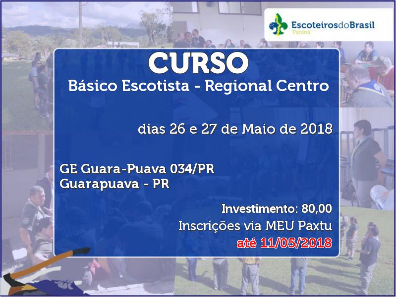 Básico Escotista - Regional Centro