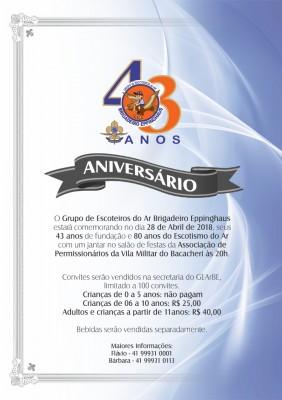 43º Aniversário GEArBE