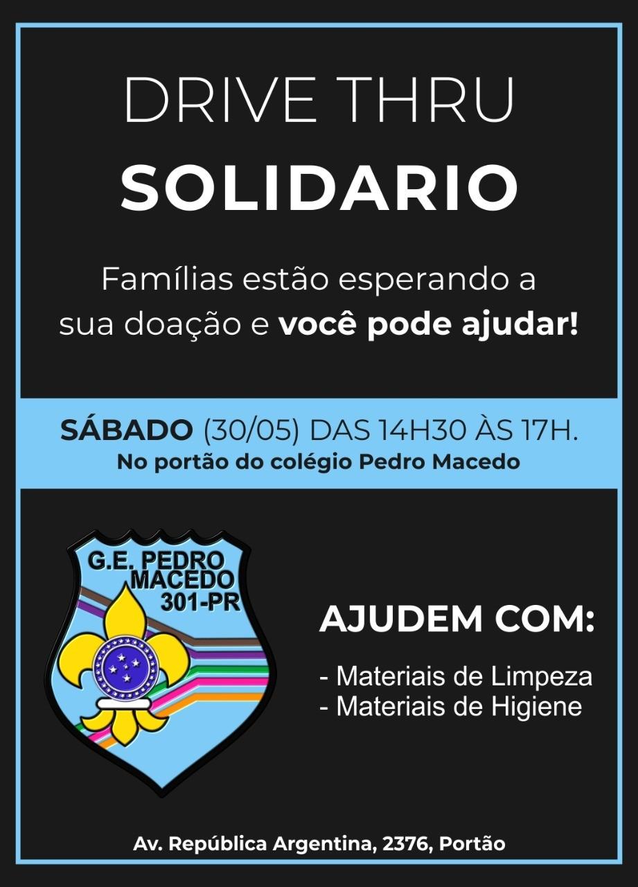 Drive Thru Solidário Pedro Macedo