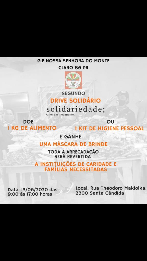 2° drive solidário GENSMC 86/Pr