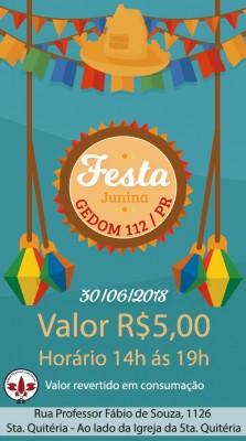Festa junina GEDOM 112 PR