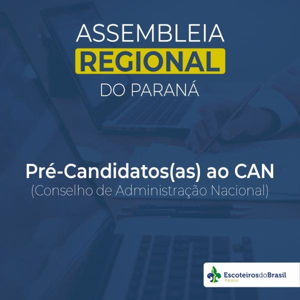 Pré-Candidatos(as) ao CAN (Conselho de Administração Nacional)