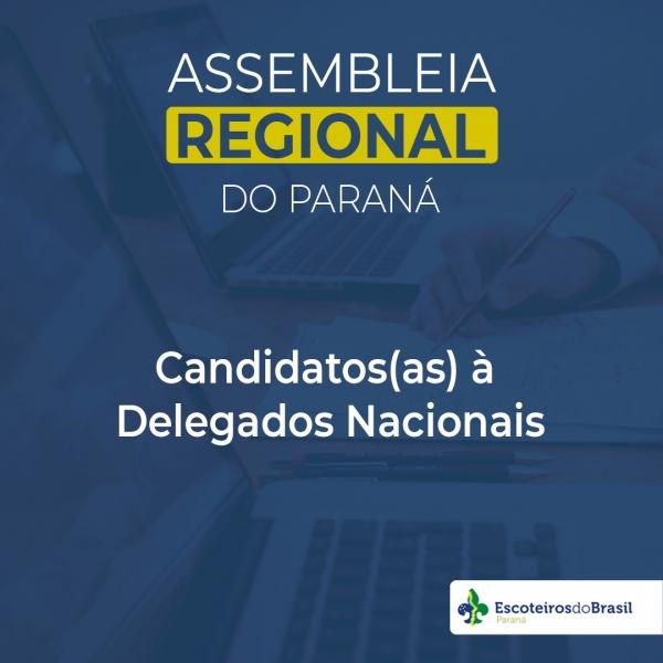 Candidatos(as) à Delegados Nacionais