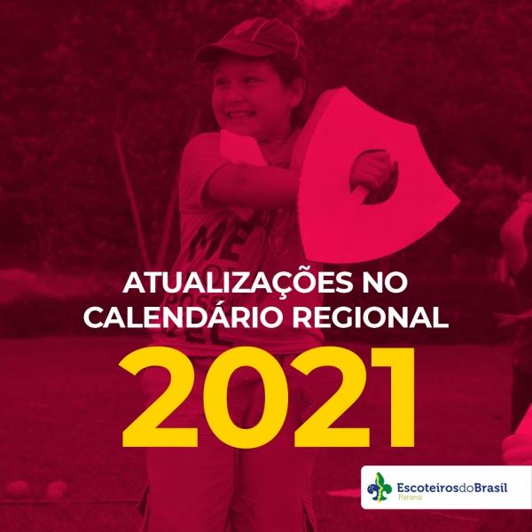 Atualizações no Calendário Regional