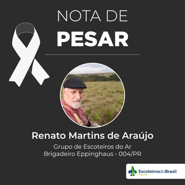 Nota de Pesar - Renato Martins de Araújo GEARBE 004/PR