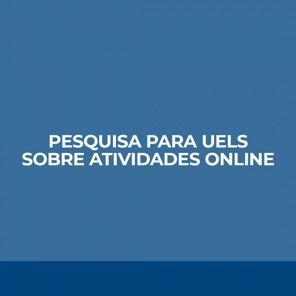Pesquisa sobre atividades online