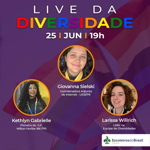 LIVE DA DIVERSIDADE - 25/06 às 19hrs