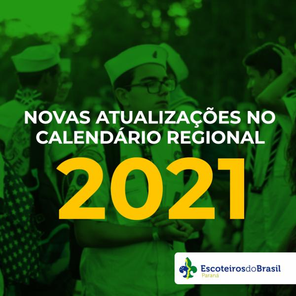 Atualização Calendário Regional - 2021