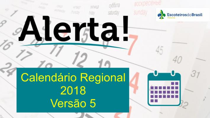Calendário Regional 2018