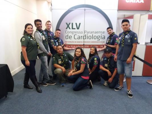 Tropa Sênior participa de Curso no Congresso Paranaense de Cardiologia