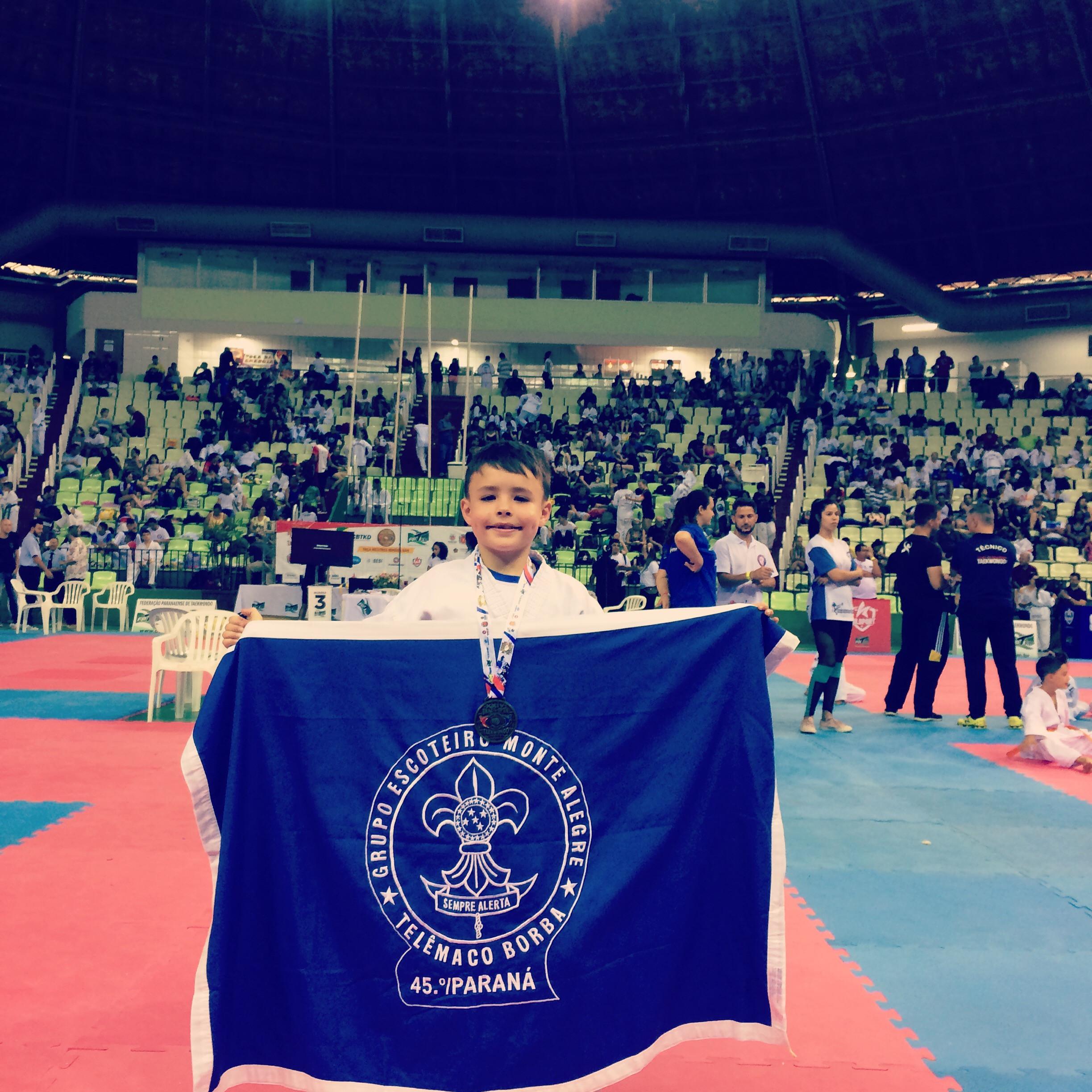 Lobinho conquista medalha no Brasil Open Taekwondo 2019