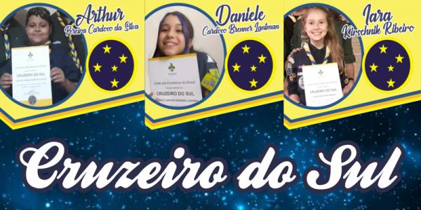 O G.E. São Gaspar Bertoni celebra a entrega de três Cruzeiros do Sul.