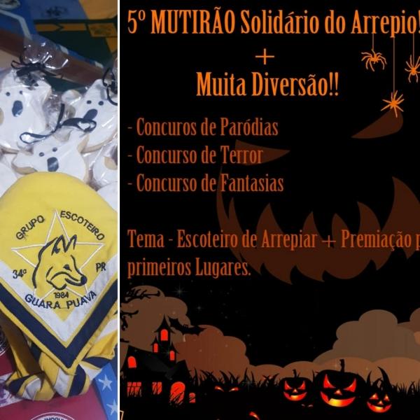 5° MUTIRÃO Solidário do Arrepio! - Escoteiros de Arrepiar