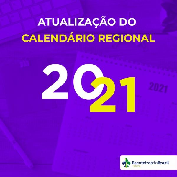 Atualização do Calendário Regional 2021
